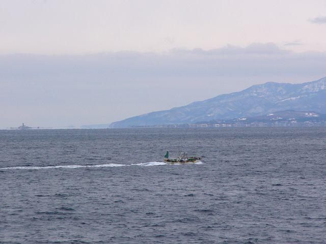 大間の漁船