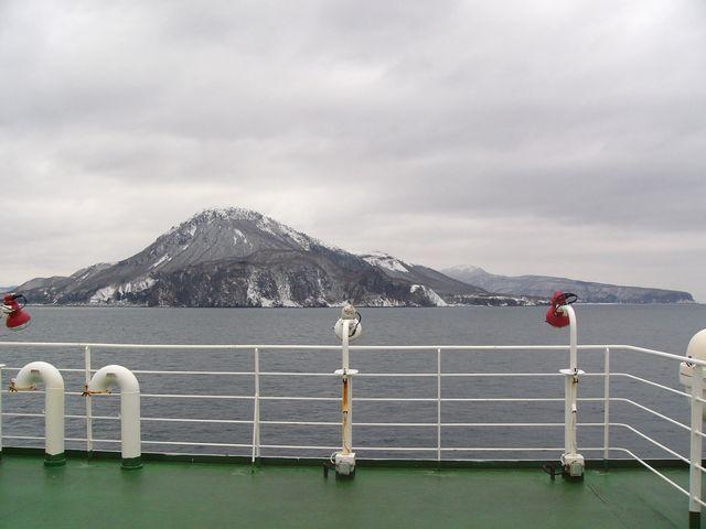 恵山沖を方向転回