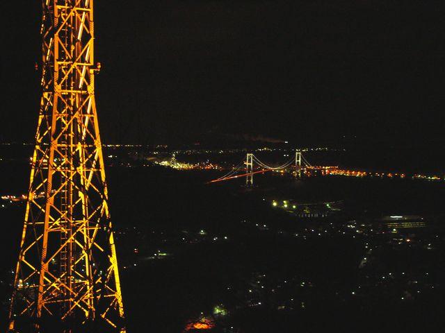測量山から白鳥大橋