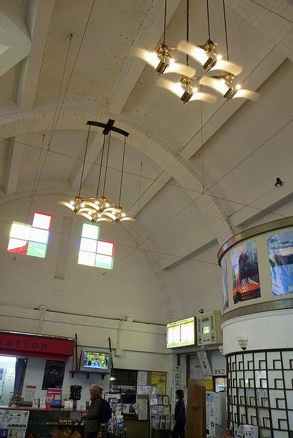 出雲大社前駅の天井