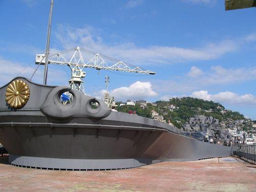 戦艦大和船首