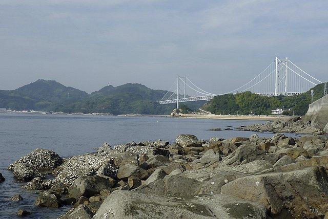 向島南岸から因島大橋