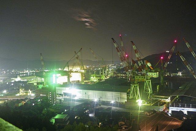 造船所夜景