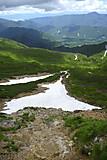富士見岳下の車道より乗鞍高原方面